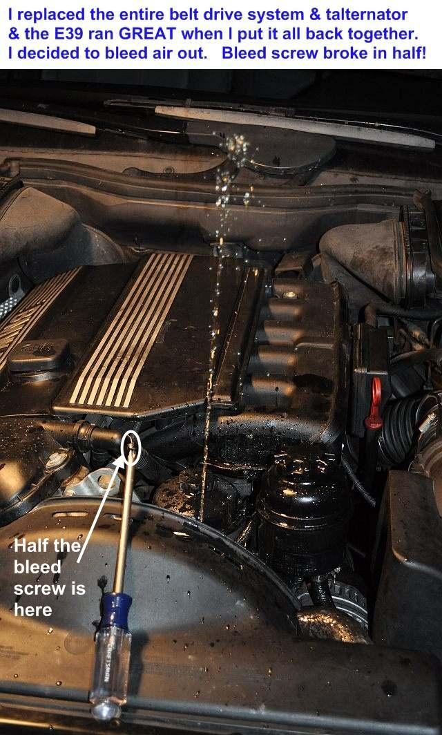 e46 lower radiator hose removal