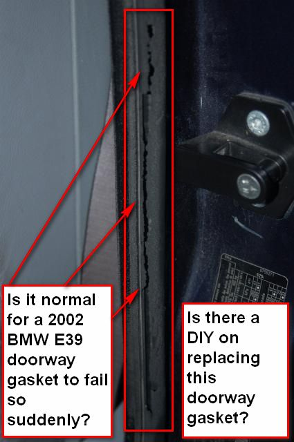 Advice On Replacing Bad Bmw E39 Doorway Neoprene Rubber