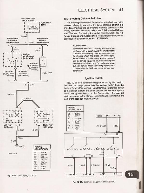 wiring ignition switches - bimmerfest - bmw forums, Wiring diagram
