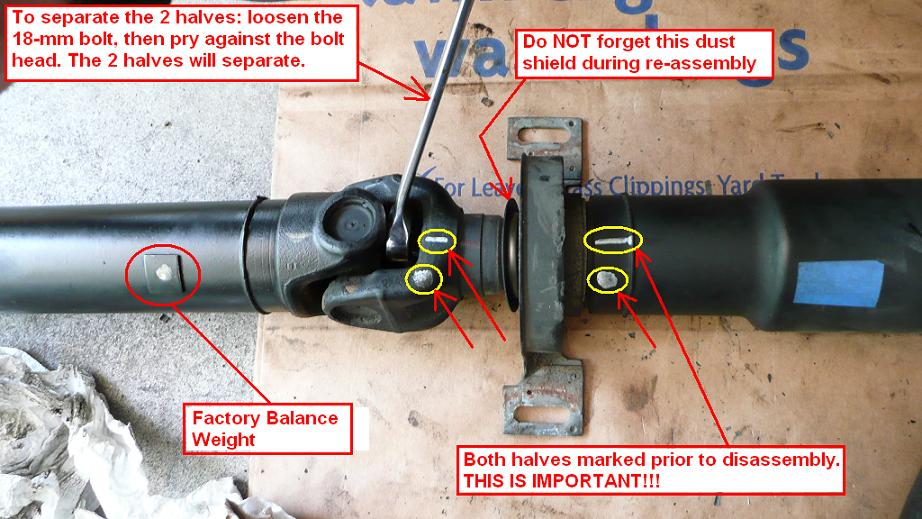 BMW E39 M5 GENUINE Center Support With Bearing Assembly For Driveshaft