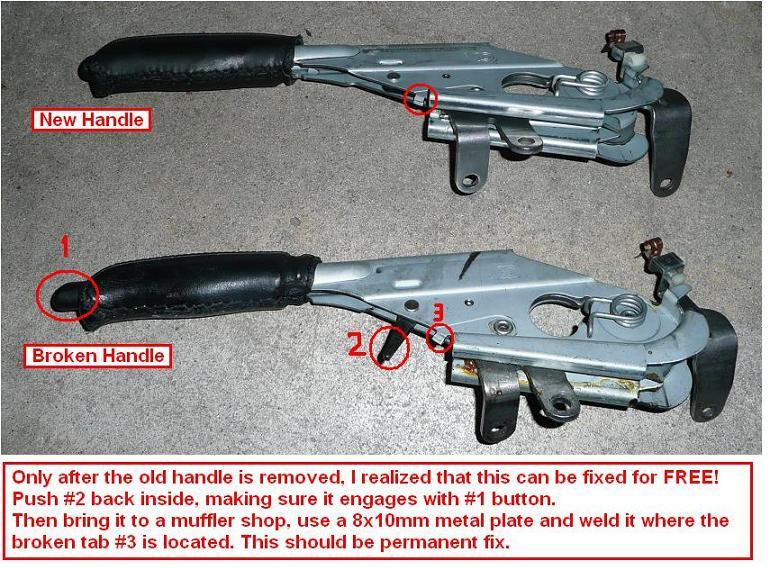 Diy 1998 Bmw 528i Parking Brake Handle Replacement