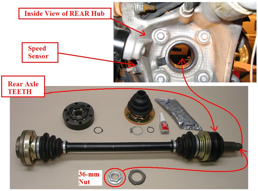 Rear Wheel Speed Sensor E39 Identification