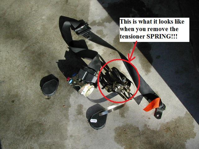 bmw z3 seat belt removal