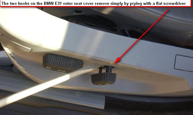 diy on the notorious seat switch screws one in front one midway back where the seat belt slides thru the cover usually hidden by a tuft of the seat s leather and three pop rivets