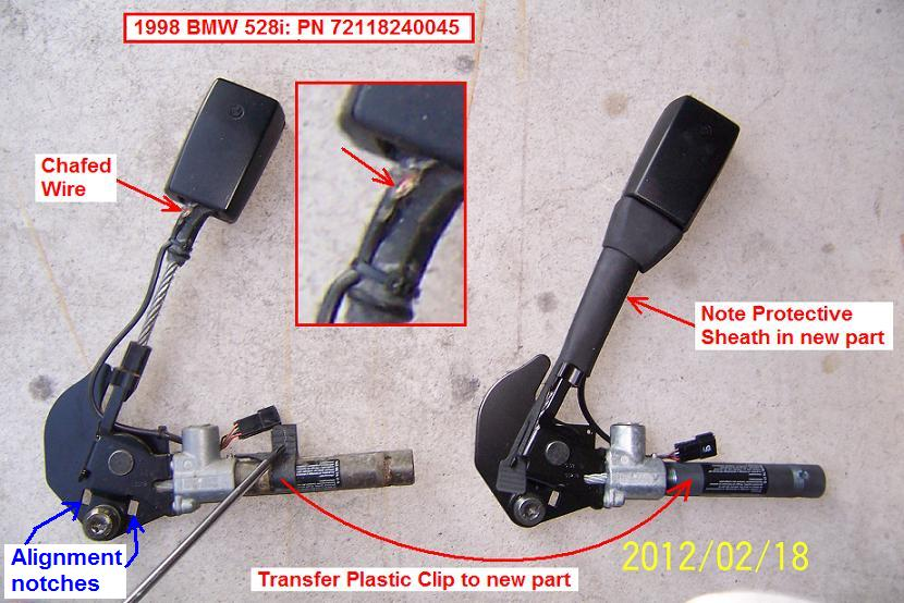 1998 BMW 528i Replacing Driver Seat Belt Buckle