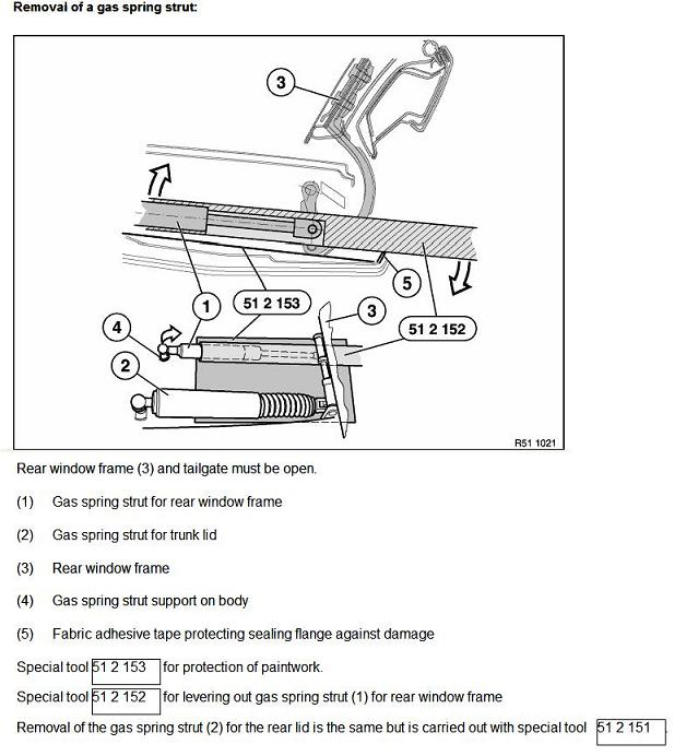 bmw e61 tailgate wiring diagram bmw wiring diagrams touring liftgate shocks