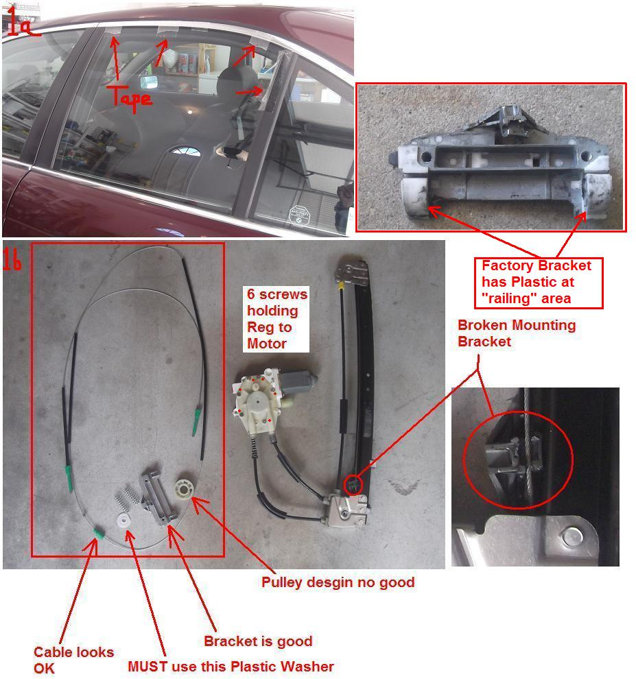 1998 528i Rear Window Regulator Repair
