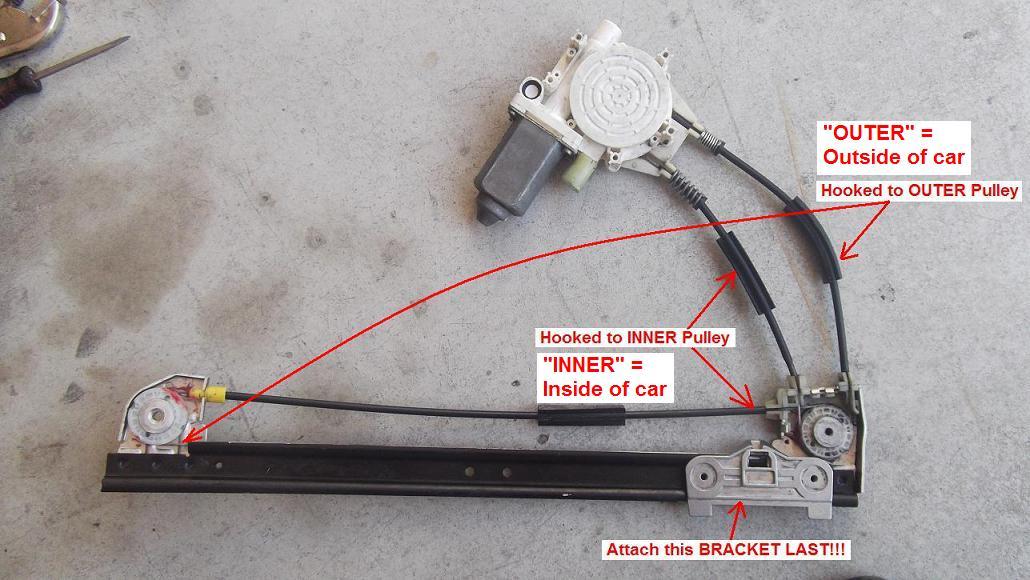 Diy 1998 528i Rear Window Regulator Repair Bimmerfest Bmw Forums