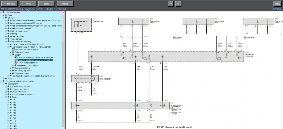 e61 2007 pre LCI self levelling suspension problem - temporarily ...
