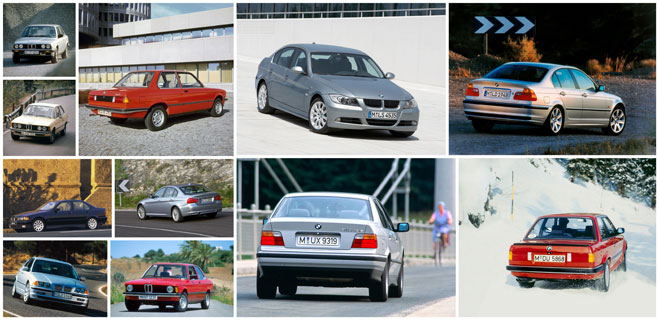 Five generations of the BMW 3 Series - A Success Story