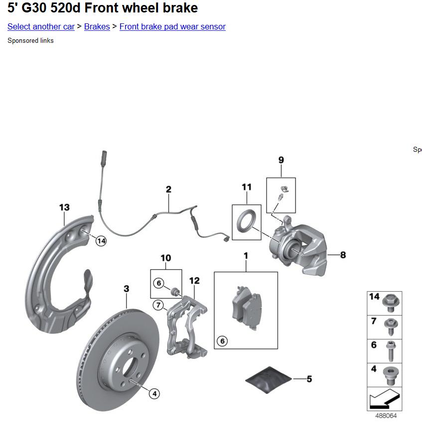 G30's have brake wear sensors? | Bimmerfest BMWBimmerfest