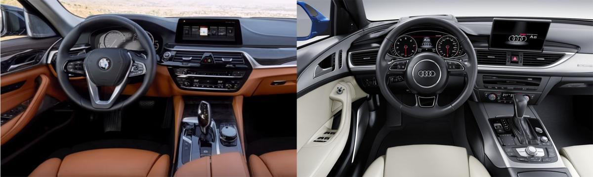 Side By Side New Bmw 5 Series Vs Audi A6 Bimmerfest Bmw Forums