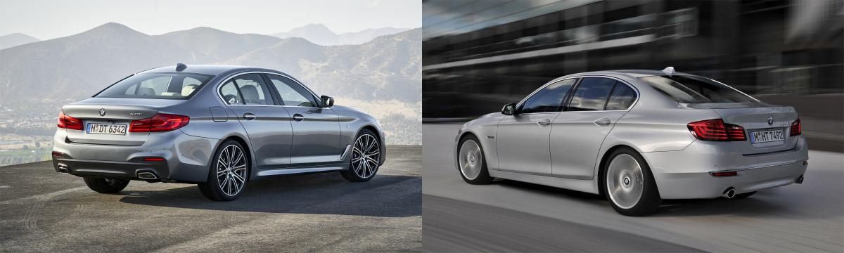 Side By Side New G30 BMW 5 Series Vs Old F10 5 Series BMW