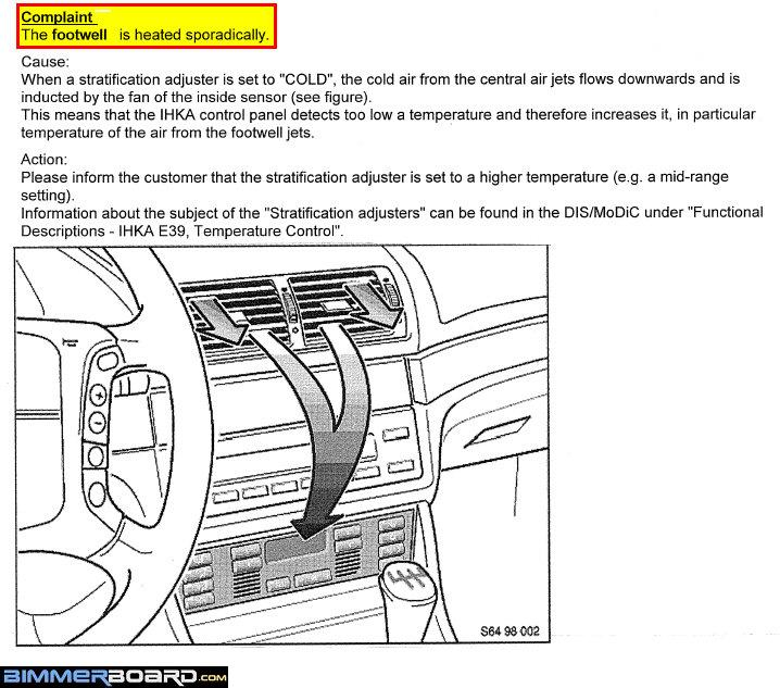 AC blowing hot air to the feet? - Bimmerfest - BMW Forums