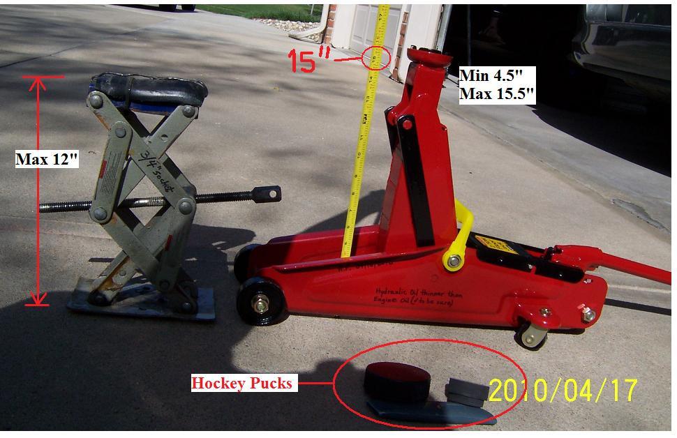Diy Hydraulic Floor Jack With Hockey Pucks For 25