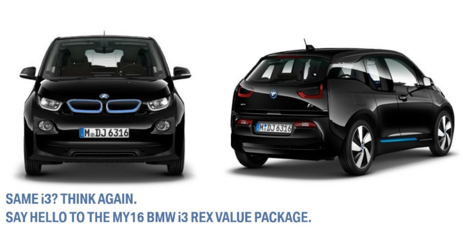 Bmw Introduces The 2016 I3 Rex Value Package
