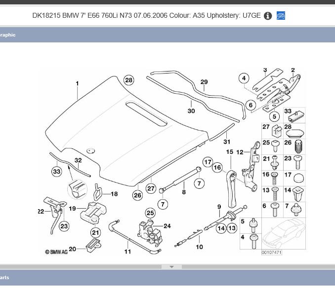 Diy E65 Manual Hood Latch Release On 2006 Facelifted 750 760 S Bimmerfest Bmw Forum