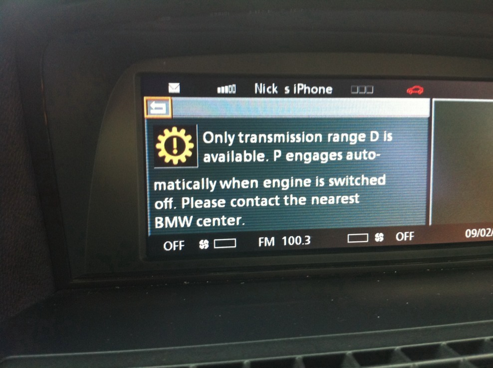 Parking brake fault - dynamic drive - ABS - Bimmerfest - BMW Forums