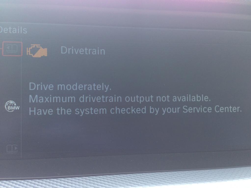 Drivetrain Malfunction - Bimmerfest - BMW Forums