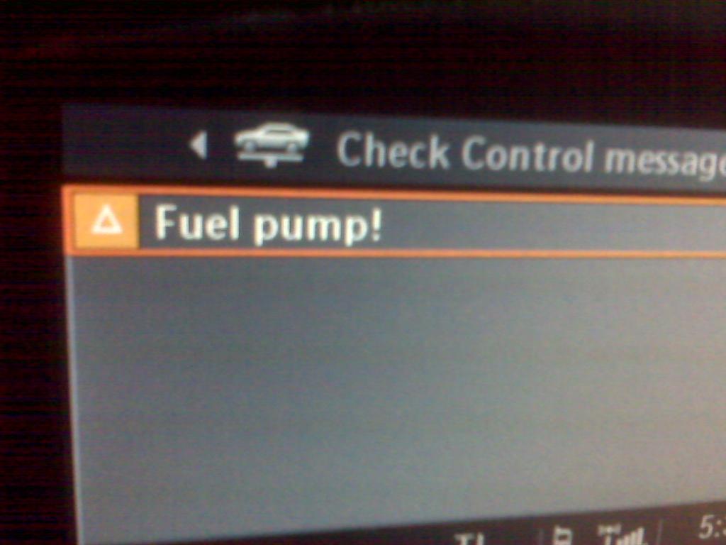 Warning Fuel Pump! - Bimmerfest - BMW Forums