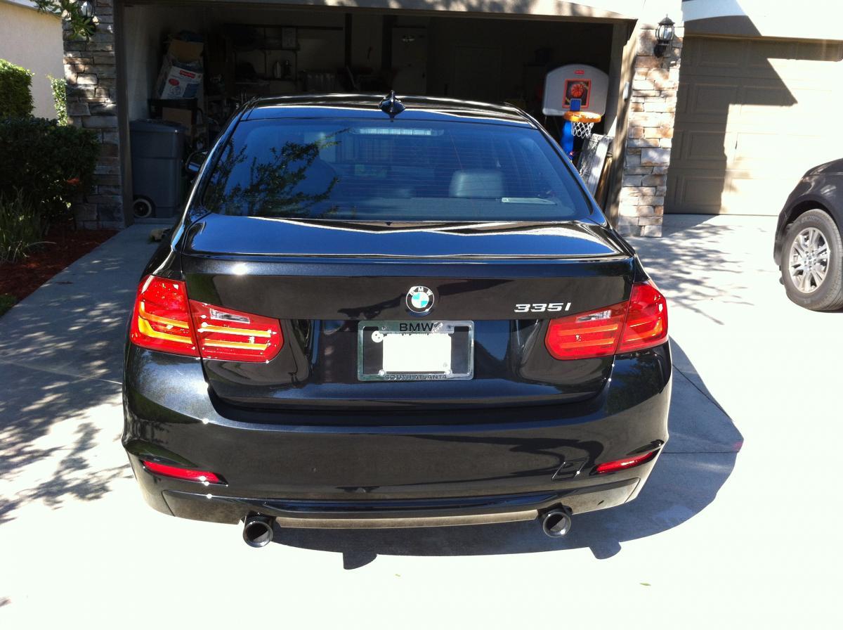 F30 BMW 3 series in Black Sapphire