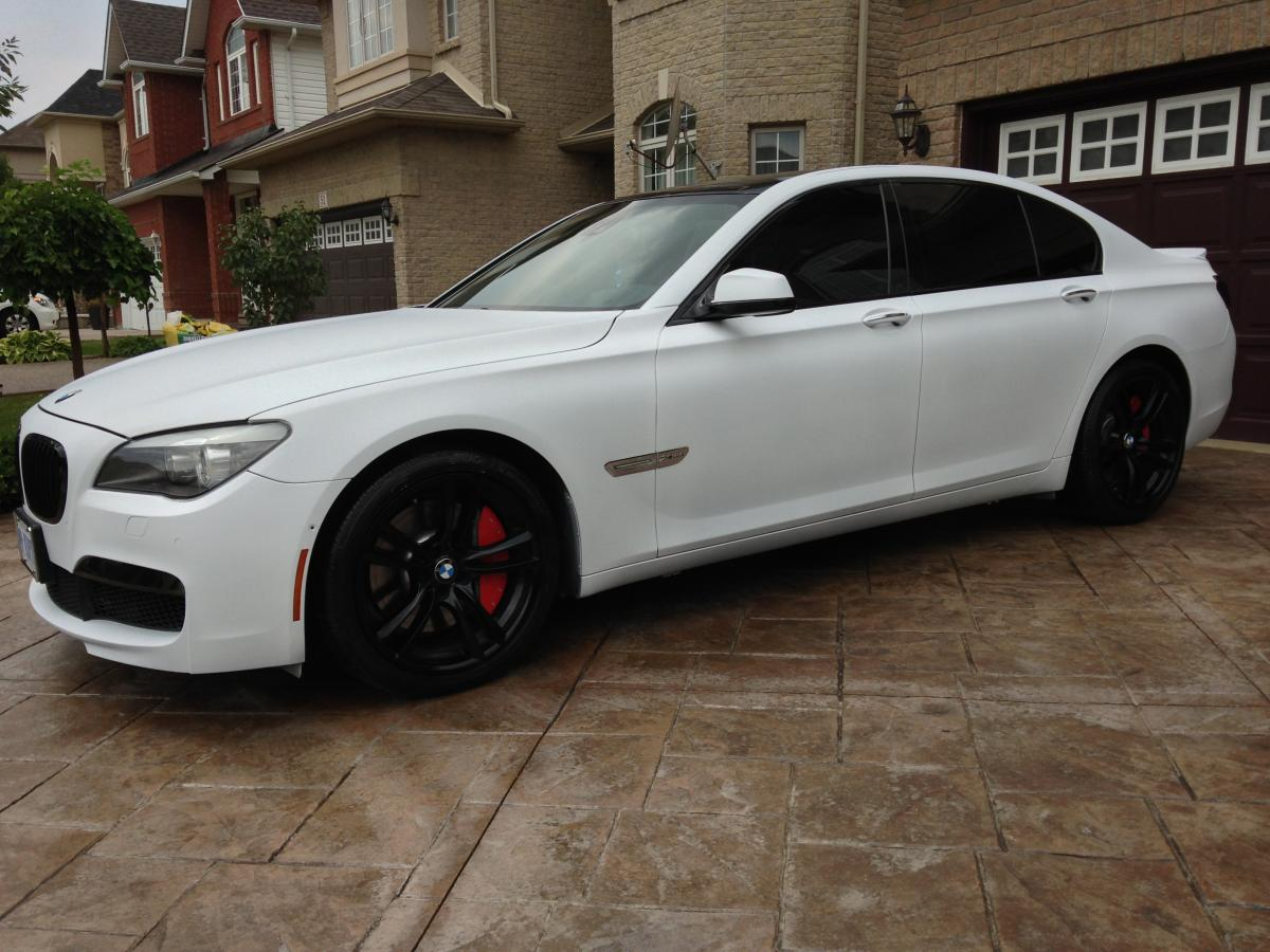 Matte White F01 BMW 750 Video And Pics