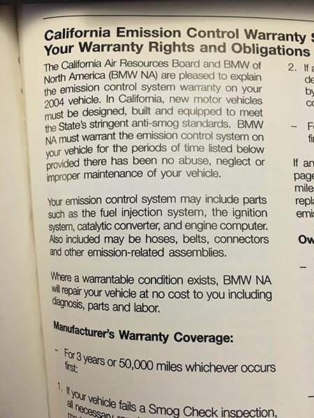 Bmw Sulev Warranty >> Psa M56 Sulev Warranty Info And Parts List Bimmerfest Bmw Forums