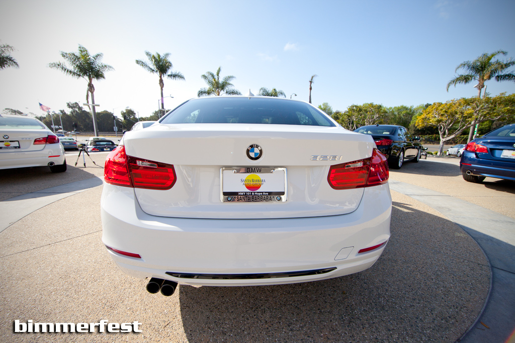 F30 BMW 3 series in alpine white