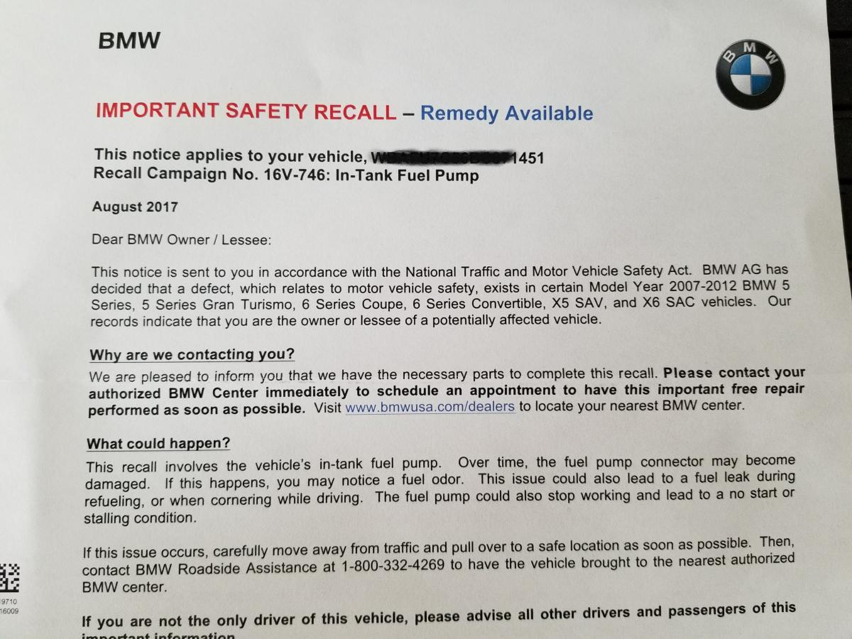Fuel pump errors - Bimmerfest - BMW Forums