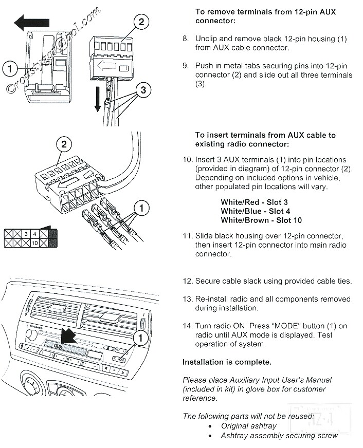 E60 Aux Input Wiring Diagram - Wiring Diagrams Place