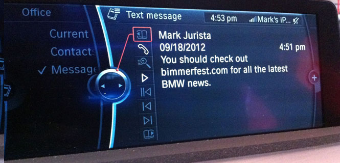iOS 6 Brings Text to Speech to Your BMW's iDrive Display