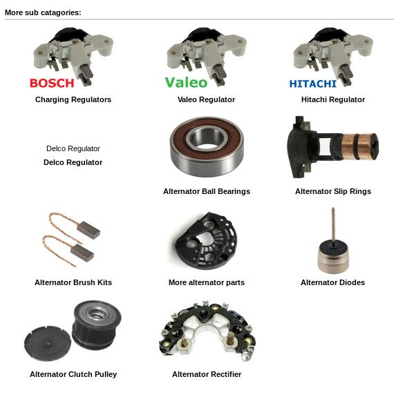Valeo alternator rectifier/diodes, interchangability with Bosch