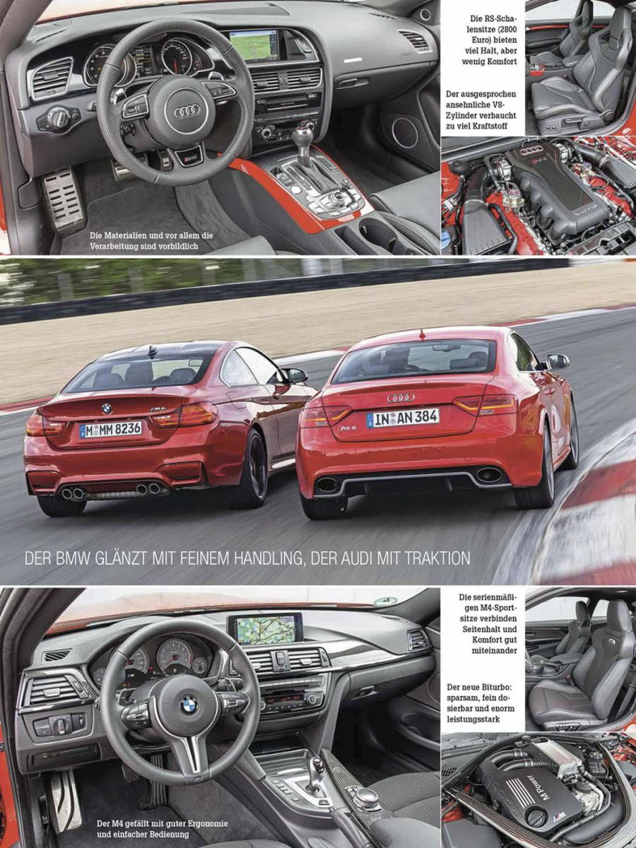 On The Nurburgring Bmw M4 Vs Audi Rs5 Auto Zeitung Bmw News At