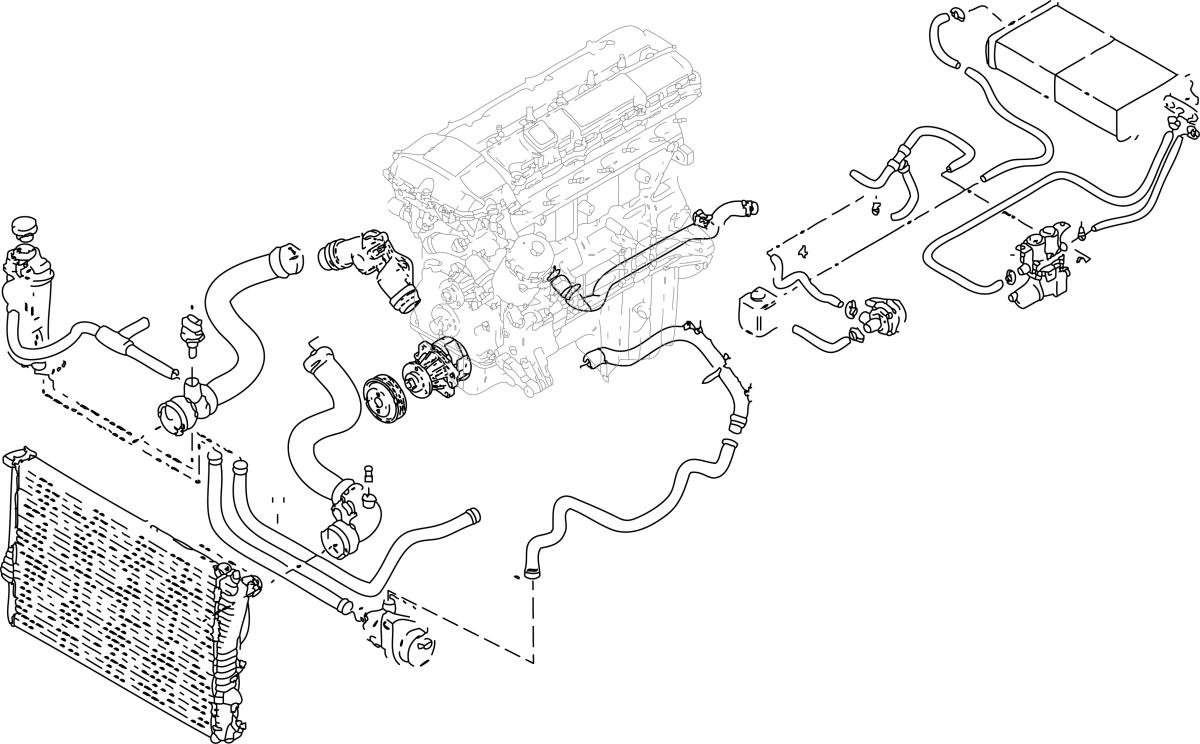 1997 bmw 528i cooling system diagram