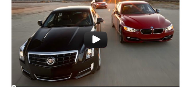 Motor Trend Head 2 Head BMW 335i vs Cadillac ATS vs Mercedes-Benz C350