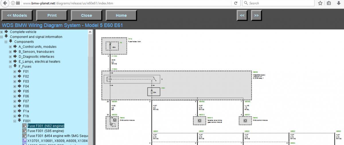 545i IVM (Integrated Supply Module) Fuse Diagram - Bimmerfest - BMW Wds Bmw Wiring Diagram System Model E E on
