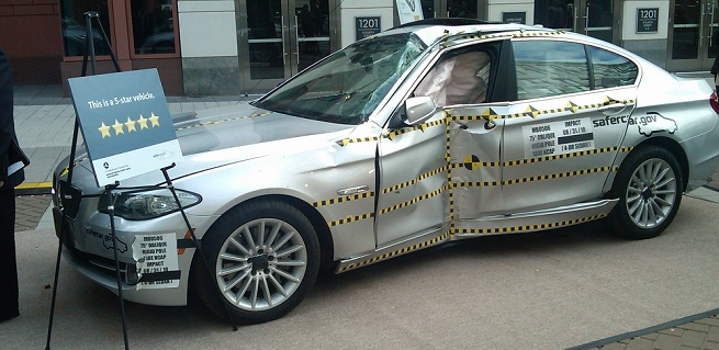 BMW F10 5 Series Receives Five Stars in New More Stringent Crash Test