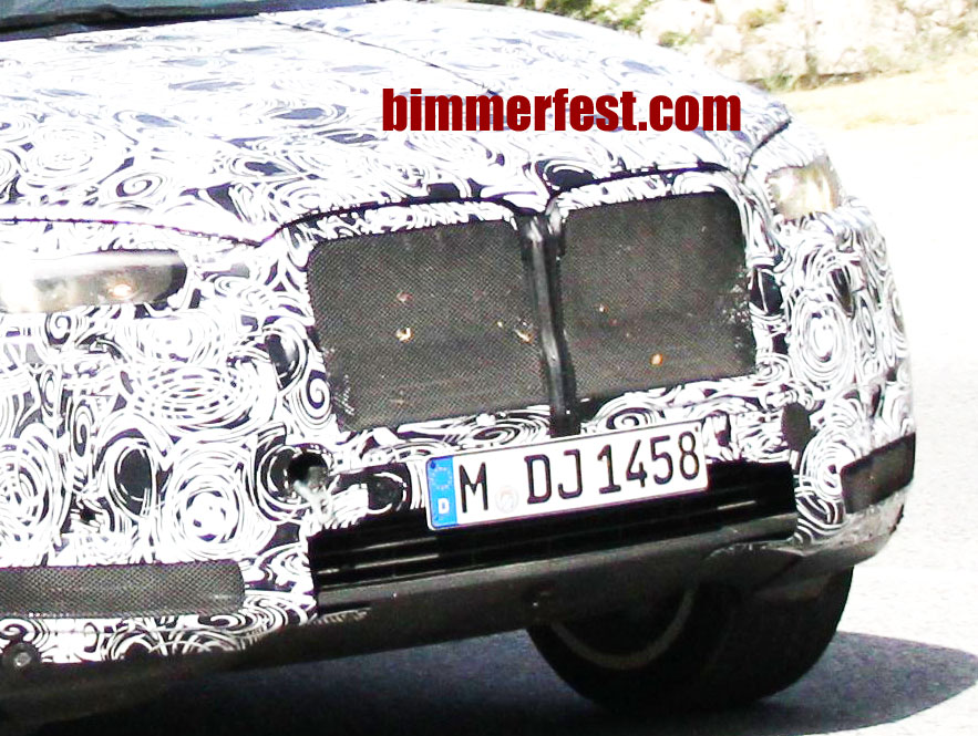 next generation BMW X5 grills exposed