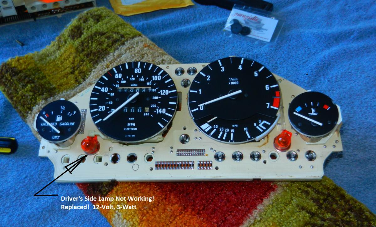 1987 E30 Vert - Replacing Odometer Gears and Testing Cluster