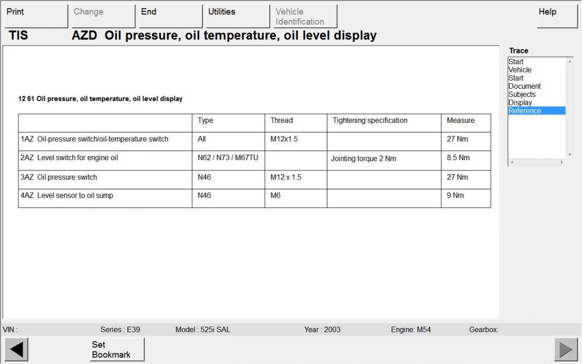 Oil Level Sensor Torque Setting - Bimmerfest - BMW Forums