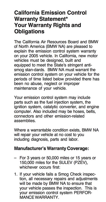 Psa M56 Sulev Warranty Info And Parts List Bimmerfest Bmw Forums