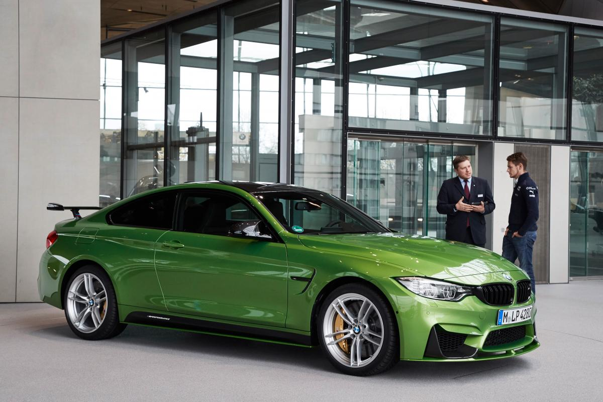 DTM champion Marco Wittmann receives a Java Green M4 Coupe with M ...
