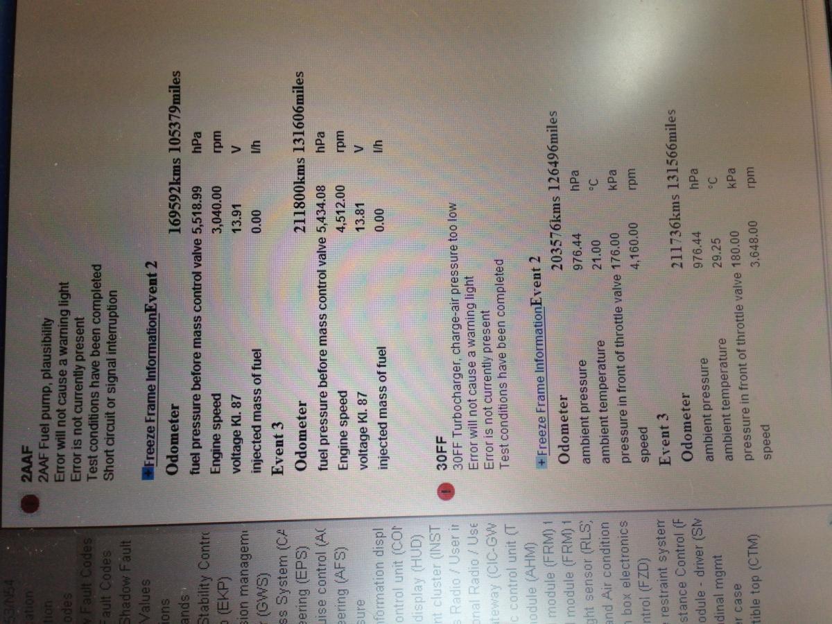 2007 335xi codes - my turn!!! Help Help!!! - Bimmerfest
