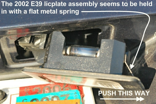 Light bulb above the license plate needs replacement  Page 2