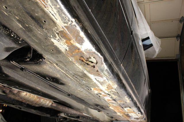 how to fix rust holes on rocker panels