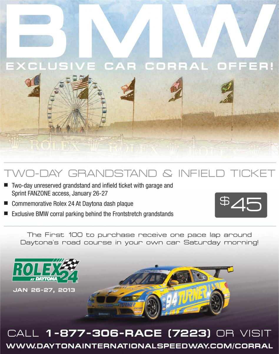 BMW exclusive car corral at Rolex 24