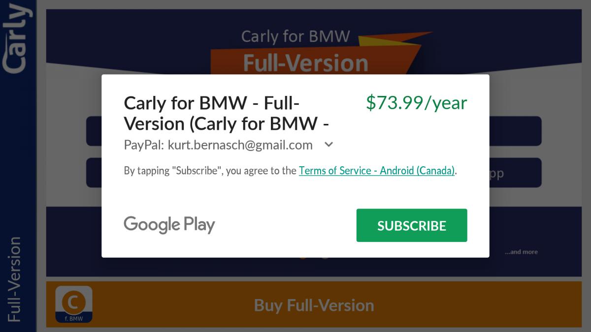 Carly a subscription service? - Bimmerfest - BMW Forums