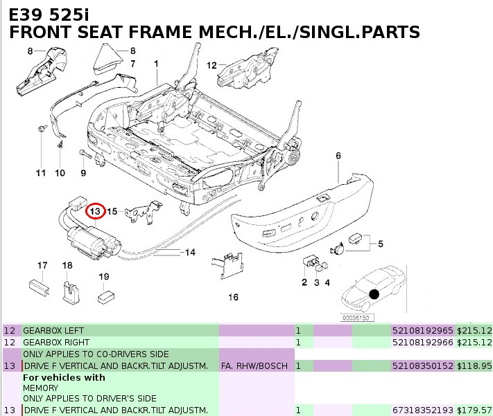 seat twist issue-which motor controls seat height? - bimmerfest, Wiring diagram