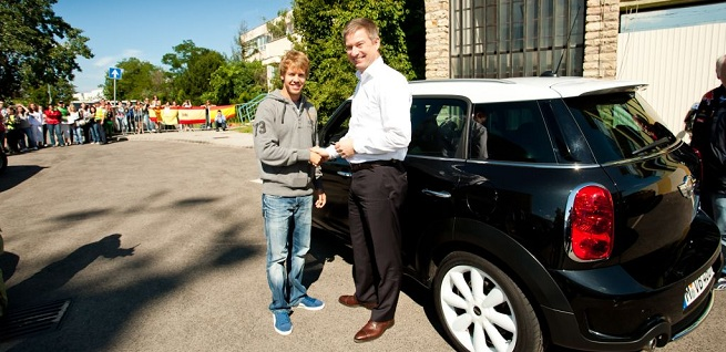 Sebastian Vettel drives the new MINI Countryman