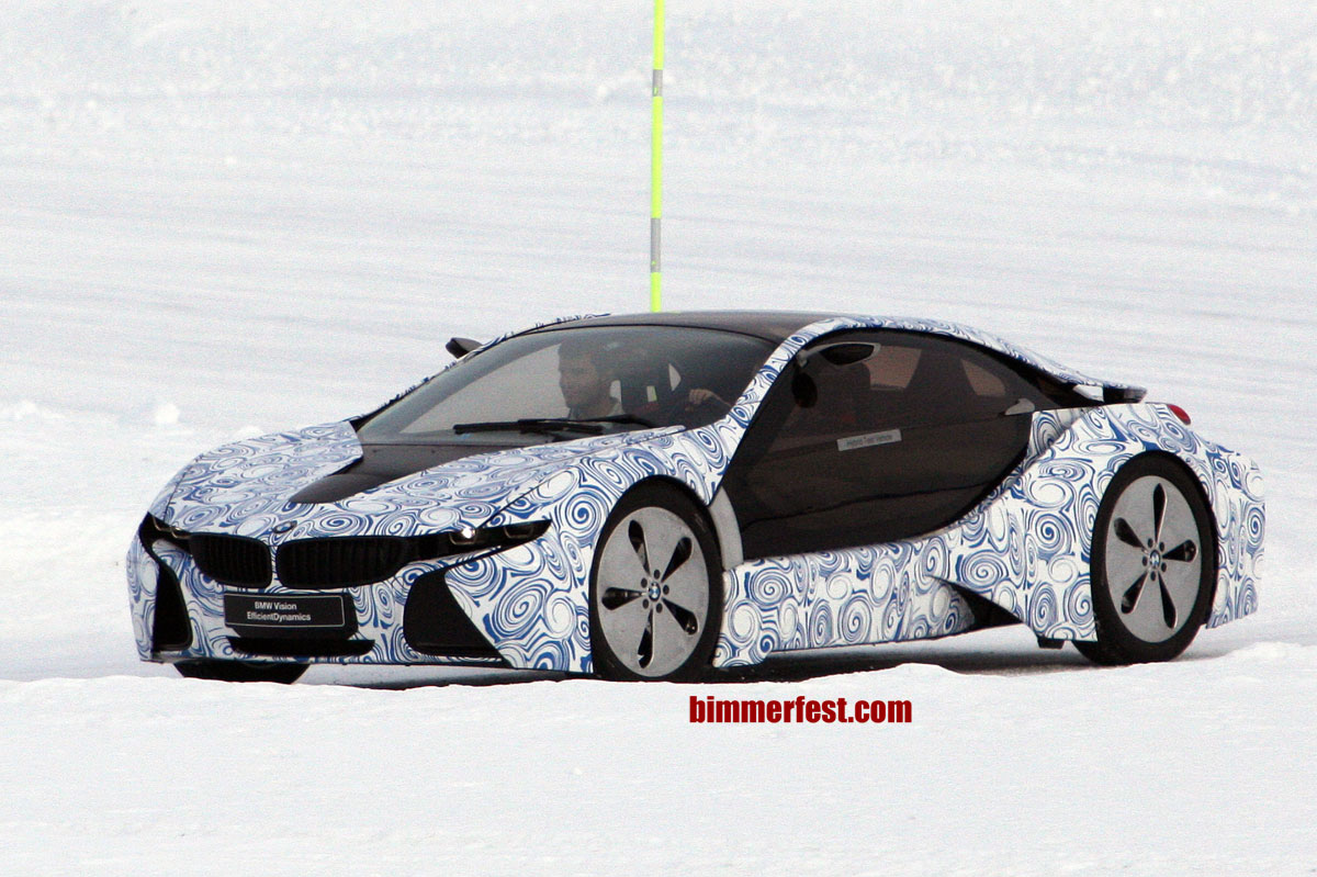 BMW i8 Winter Weather Testing